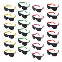 Beachgoer Bulk Pack of 24 Neon Sunglasses Party Favors - Bulk Neon Party Sunglasses for Pool and Beach Parties