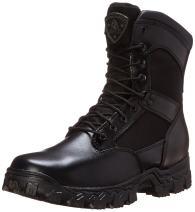 "Rocky FQ0002165 8"" Alpha Blk Waterproof Extra Wide 9.5 Duty Boots"