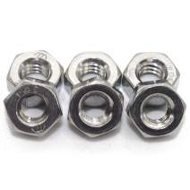 """Stainless 5/16""""-18 Hex Nut(50 pcs), 18-8 304 Stainless Steel,Bright Finish"""