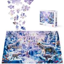 Jigsaw Puzzle for Adults 1000 Pieces, ACSTEP Wolf Castle Adult Jigsaw Puzzles Educational Games Intense Colors and High Definition Printing – Ideal for Relaxation, Meditation, Hobby