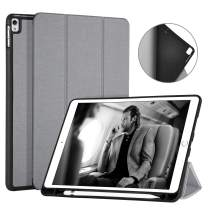 "Ayotu Soft Case for iPad Air 10.5"" (3rd Gen) 2019/iPad Pro 10.5"" 2017, Auto Sleep/Wake Multi-Angle Viewing Folio Stand Cover Cases with Pencil Holder for Apple iPad Air3 3rd Generation,Grey"