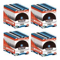 Rip Van Wafels Cookies & Cream Stroopwafels - High Protein Snacks (10g Protein) - Non GMO Snack - Keto Friendly - Office Snacks - Healthy Snacks - Low Sugar (5g) - 48 Pack
