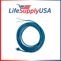 LifeSupplyUSA 18/3 Blue 40ft Ribbed SJT 3 Wire Power Cord Compatible with Windsor Sensor Versamatic Flexamatic Upright Vacuum Cleaners (40 feet)