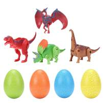 haomsj Easter Eggs Toys Hatching Dinosaur Surprise Eggs Game Party Favors for Age 3 to 8 Years (4PCS) Color by Random