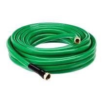 AmazonBasics Garden Tool Collection - Heavy Duty Water Hose with Brass Coupling 50ft, 5/8'', 500psi