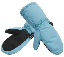 Andorra Girls Premium Waterproof Insulation Ski Gloves,Solids,S,Blue Green