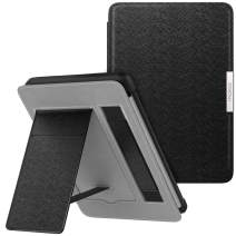 MoKo Case for Kindle Paperwhite, Premium PU Leather PC Hard Shell Smart Stand Cover Fits All Paperwhite Generations Prior to 2018 (Will not fit All-New Paperwhite 10th Generation), Black