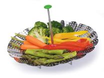 "Progressive International Prep Solutions Steamer Basket, 9"", Stainless Steel"