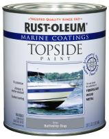 Rust-Oleum Available 207005 Marine Topside Paint, Battleship Gray, 1-Quart