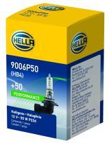 HELLA 9006P50 +50 Performance Bulb, 12V, 55W