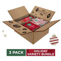 Starbucks Holiday Bundle | 10 Holiday Blend Medium Roast Coffee K-Cup Pods, 6 Peppermint Mocha Latte Flavored Coffee K-Cup Pods and 20 Cookie Straws | Limited Edition, Bundle Pack