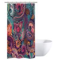 Riyidecor Mandala Indian Bohemian Shower Curtain Paisley Purple Floral Boho Yoga Abstract Tribal Colorful Bathroom Home Decor Set Fabric Waterproof Included 7 Plastic Shower Hooks 36x72 Inch