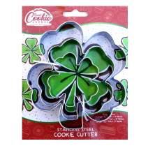 Clover Cookie Cutter Set, 3 Piece, Stainless Steel