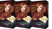 Revlon Colorsilk Buttercream Hair Dye, Vivid Medium Auburn, Pack of 3