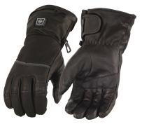 Milwaukee Leather Women's Heated Gantlet Glove with Touch Screen (BATTERY PACK INCLUDED) (Black, L)