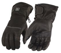Milwaukee Leather Women's Heated Gantlet Glove with Touch Screen (BATTERY PACK INCLUDED) (Black, XS)