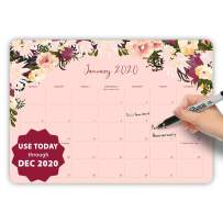 MUDRIT 2020 Desk/Wall Yearly Calendar, Large Pages 11 X 17 Monthly Daily Planner (Aug 2019 - Dec 2020), Big Blotter Desktop/Hanging Pad - Office, Home, Family,Business, School Academic Planning