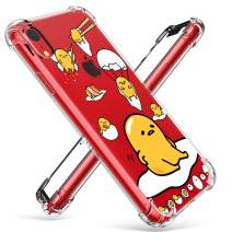 """Coralogo for iPhone XR TPU Case, 3D Cute Cartoon Funny Design Character Protective Chic Kawaii Fashion Fun Cool Unique Designer Cover Skin Teens Kids Girls Women Cases for iPhone XR 6.1"""" (Lazy Egg"""