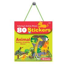 BAZIC Animal Zoo Sticker Assorted Stickers, Toddler Kid Activity Learning Coloring Book, Reward Gift Fun Incentive for Kids Girls Boys (80/Bag)