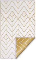 Fab Habitat Reversible Rugs   Indoor or Outdoor Use   Stain Resistant, Easy to Clean Weather Resistant Floor Mats   Sydney - Gold & Cream, 6' x 9'