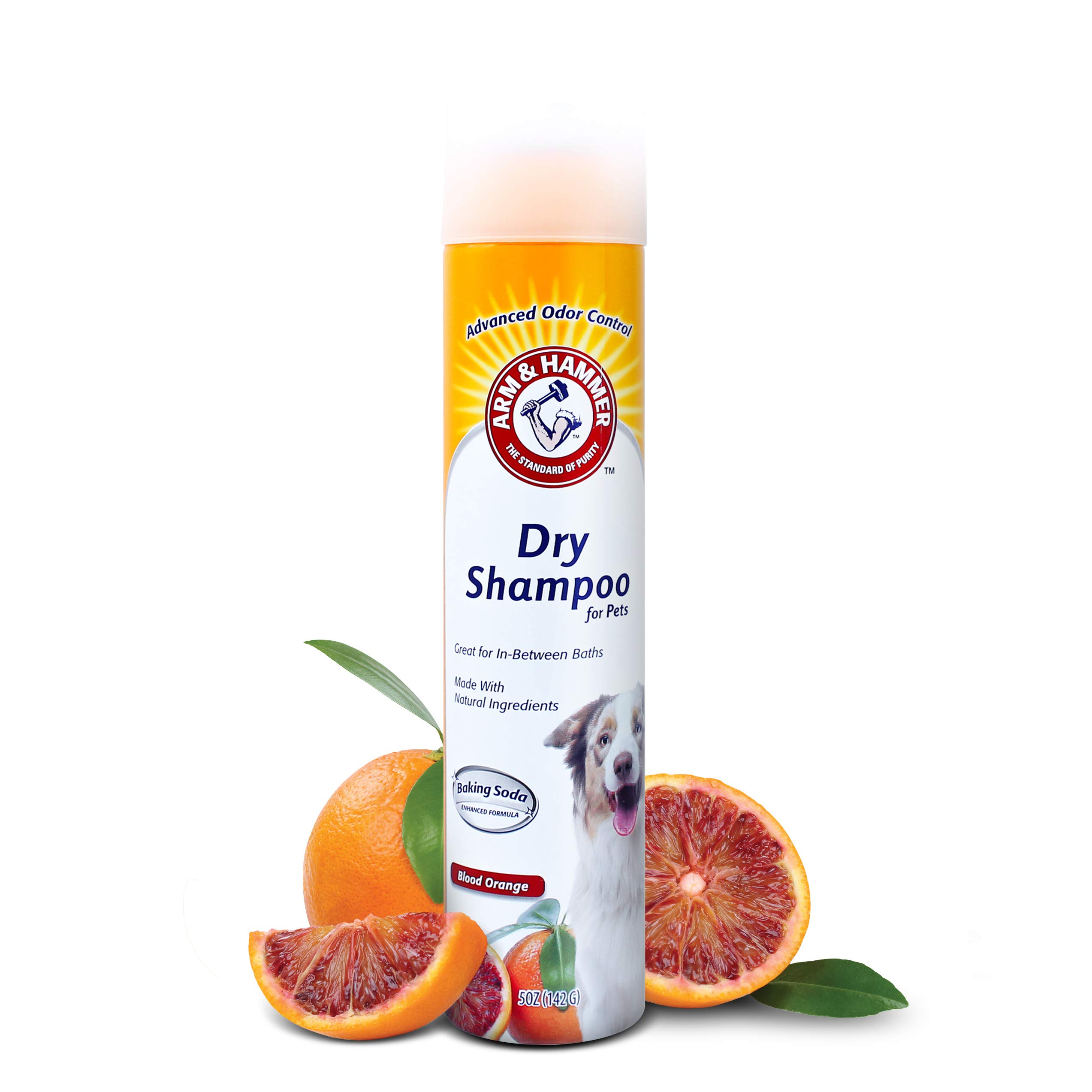 Arm & Hammer Dry Shampoo for Dogs | Dry Dog Shampoo Aerosol Spray Cleans & Deodorizes, Blood Orange Scent, Pack of 2