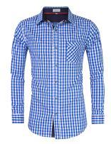 Clearlove Men's German Bavarian Oktoberfest Stylish Long Sleeve Slim Fit Classical Shirt