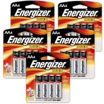 20 Count Energizer Max AAA Batteries - 5 Pack of 4 AAA4 Total of 20 Batteries, The Perfect Choice of Power for All AAA Battery Operated Devices