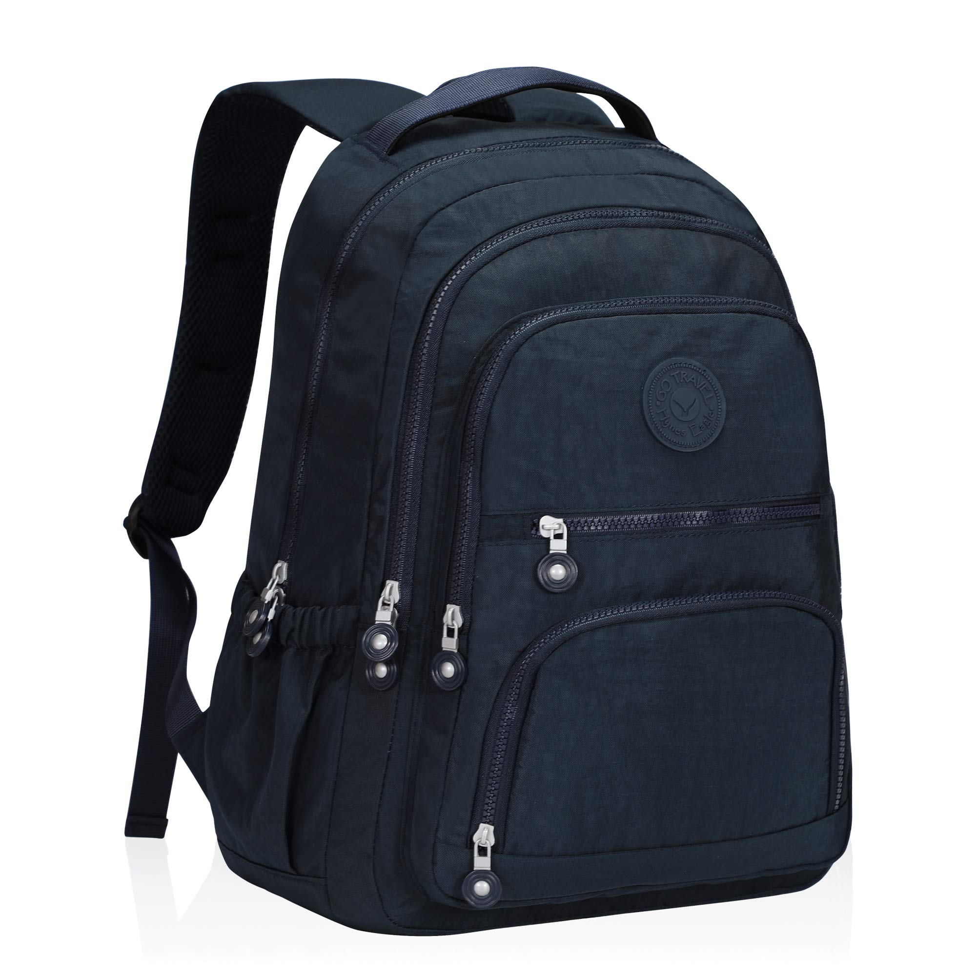 Hynes Eagle School Backpack Student Casual Daypack Laptop Backpack Fits 15.6 inches Navy Blue