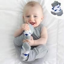 """Nuby Soothing Teether Sock, Grey Shark, 5"""""""