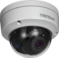TRENDnet Indoor/Outdoor 2 MP H.265 WDR PoE IR Dome Network Camera, IR Night Vision up to 30m (98ft.), 1080p, IP67 Rated, Motion Detection Recording, 120dB Wide Dynamic Range, TV-IP327PI,White