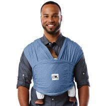 Baby K'tan Original Baby Wrap Carrier, Infant and Child Sling - Simple Wrap Holder for Babywearing - No Rings or Buckles - Carry Newborn up to 35 lbs, Denim, Women 22-24 (X-Large), Men 47-52