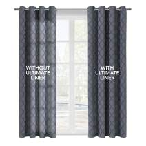 """Thermalogic Ultimate Thermal Energy Saving Blackout Window Curtain Liner, 45"""" X 88"""", White"""