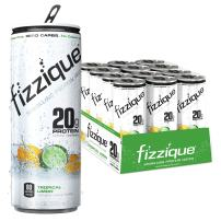 Fizzique Keto Protein Water | Tropical Limon | 12 Count