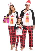 Tkria Matching Family Pajamas Christmas Deer Sleepwear Cotton Holiday Pjs Set