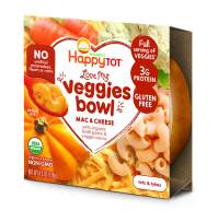 Happy Tot Love My Veggies Mac and Cheese with Organic Lentil Pasta and Veggie Sauce, 4.5 Ounce, 8 Count