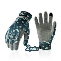 Vgo... 2Pairs Age 11-12 Junior Multi-Purpose Gloves, Washable Gardening Gloves (Size S, Green, SL7466)