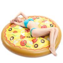 JOYIN Giant Inflatable Round Pizza Pool Float, Fun Beach Floaties, Swim Party Toys, Pool Island, Summer Pool Raft Lounge for Adults & Kids