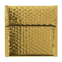 "Aviditi Metallic Self-Seal Bubble Mailers, 7"" x 6 3/4"", Gold, Pack of 72, Grab Attention When Mailing and Shipping."