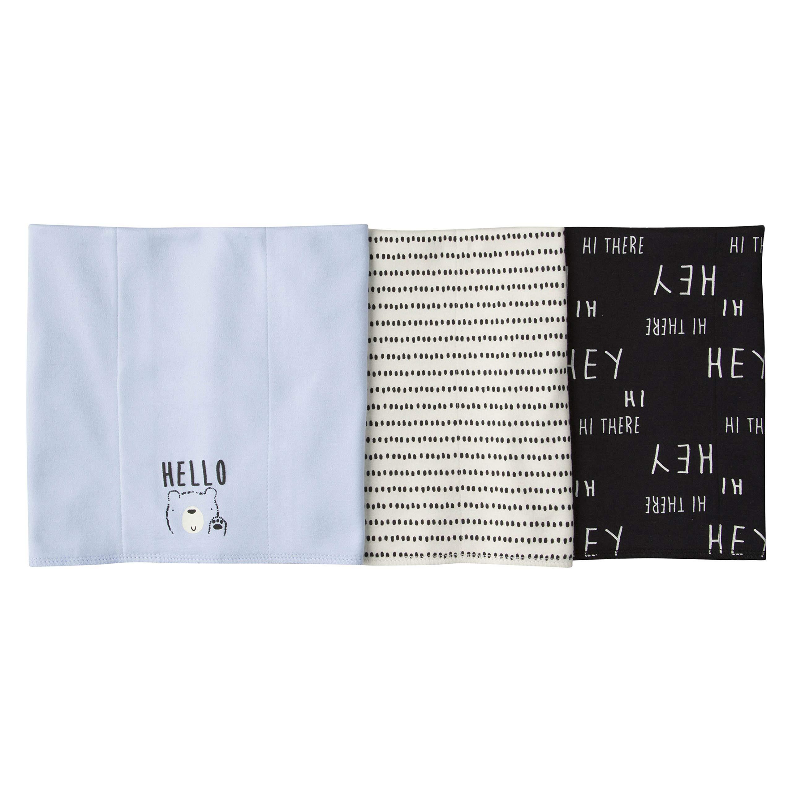 Gerber Baby Boys' 3 Pack Knit Burp Cloth, Hello Bear, One Size