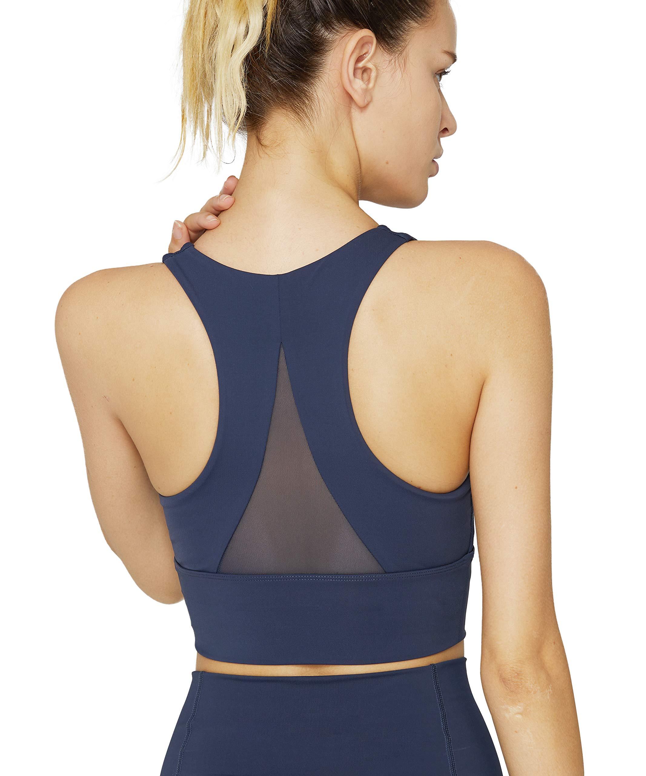 light & leaf Sports Bras for Women(XS-2X) Medium Impact Longline Yoga Workout Bra - Running Gym Activewear