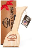 Easy Function Grill Scraper - Wooden BBQ Grill Brush Cleaner Alternative - Enjoy Safe & Bristle Free Barbecue