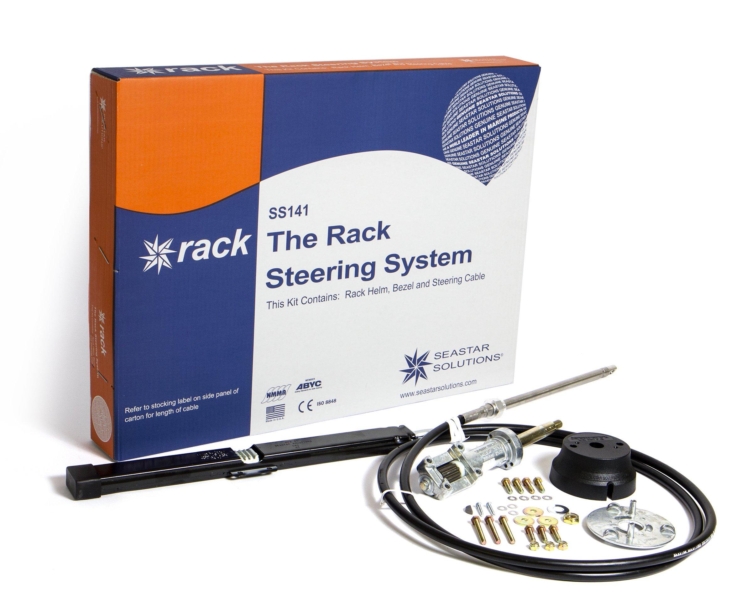 SeaStar SS141 Back Mount Rack Steering Package, 13', SS14113