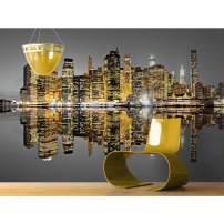 "Startonight Mural Wall Art City Reflection - Urban Photo Wallpaper 100"" x 140"""