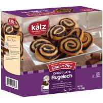 Katz Gluten Free Chocolate Rugelach | Dairy Free, Nut Free, Soy Free, Gluten Free | Kosher (6 Packs of 8 Rugelech, 7 Ounce Each)