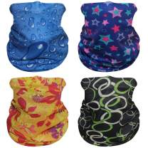 PUREMSX Balaclava Face Cover Skull Headband Bandana Headwrap Novelty Neck Gaiter UV Protection for Men & Women 4 Pack