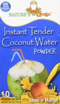 Nature's Guru Instant Tender Coconut Water Powder Mango 10 Count Single Serve On-the-Go Drink Packets