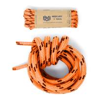 Honey Badger Work Boot Laces Heavy Duty W/Kevlar - USA Made Round Shoelaces for Boots - Orange