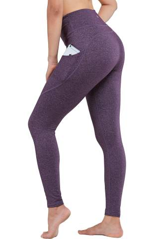 AladdinShare Workout Leggings for Women High Waisted Yoga Pants Tummy Control Compression with Hidden Pocket