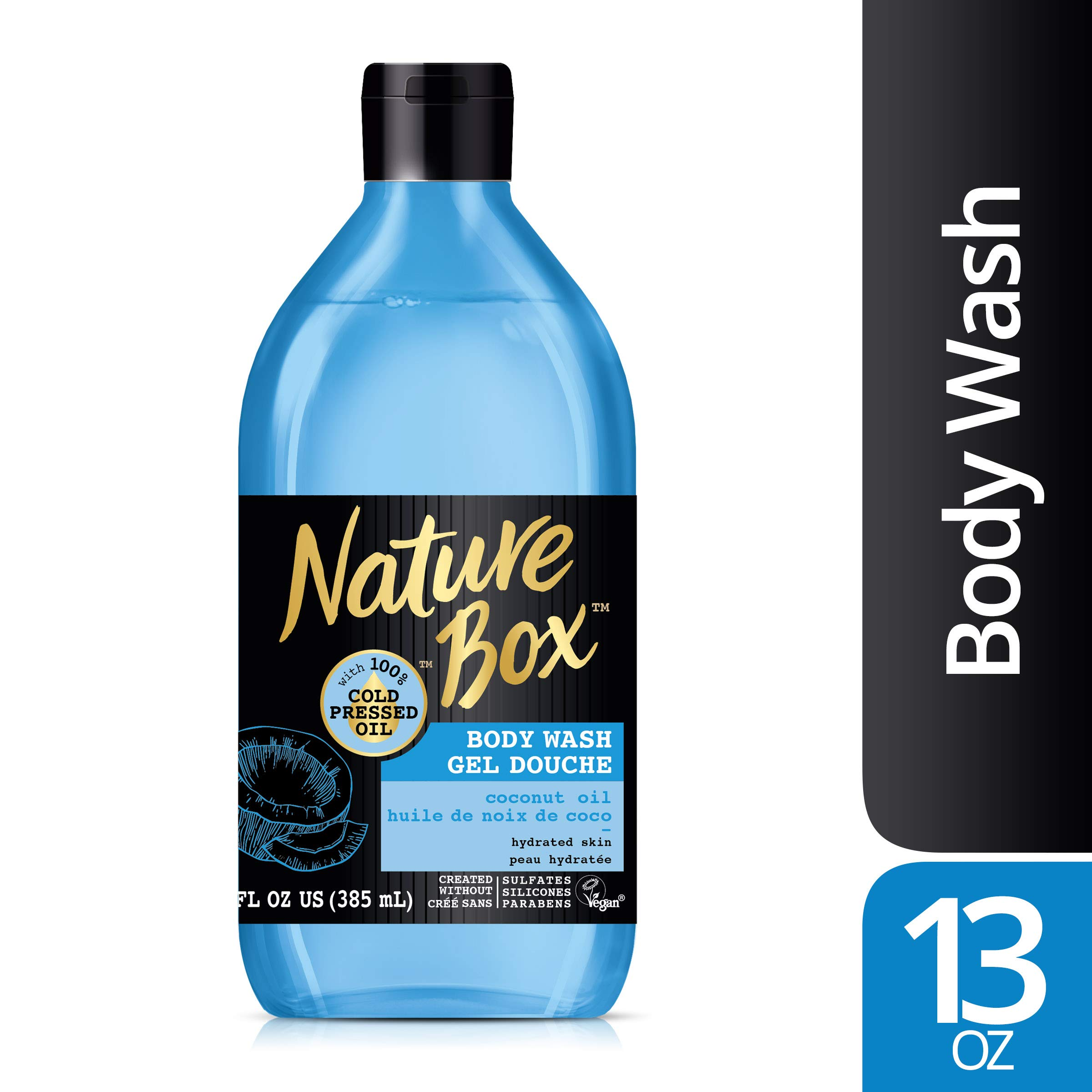 Nature Box Body Wash - for Hydrated Skin, with 100% Cold Pressed Coconut Oil, 13 Ounce