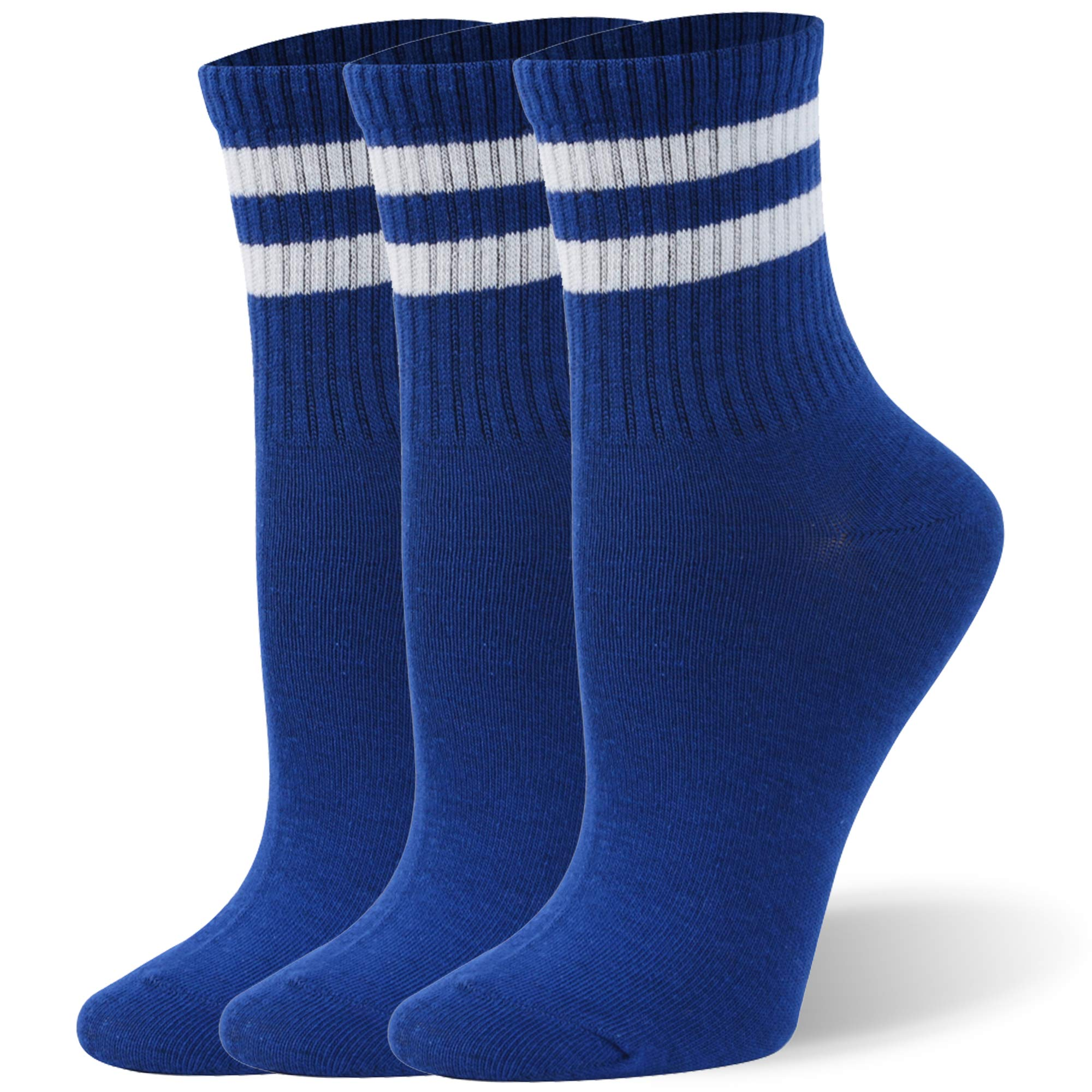 WXXM Casual Cotton Athletic Socks For Men & Women, Thin Breathable Running Socks Multicolor 3/6 pack
